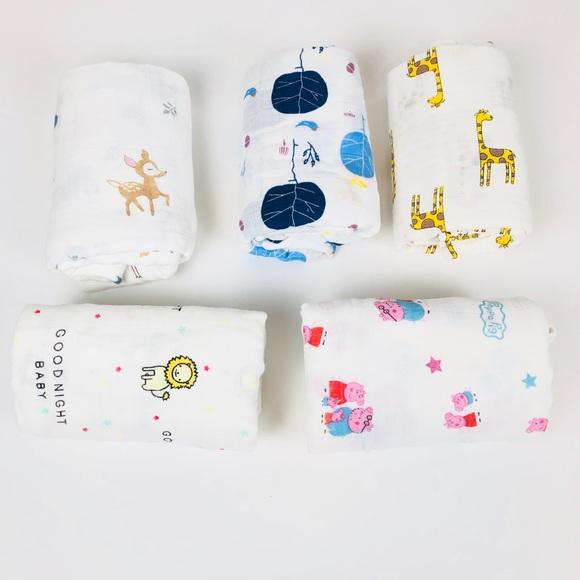 Brand new 5 Packs of Baby swaddle blanket
